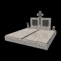 Dvojhrob zo sivého kameňa Francúzsky Tarn