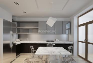 Kuchynská pracovná doska z bieleho mramoru