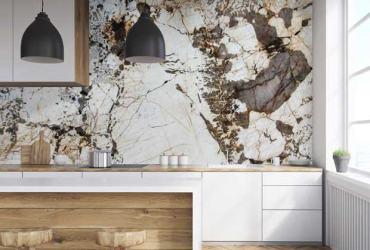 Kuchynská zástena z prírodného quartzitu