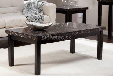 Konferenčný stolík z čierneho mramoru