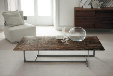 Konferenčný stolík z hnedého mramoru