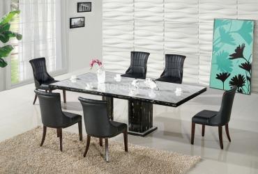 Jedálenský stôl Bianco Carrara