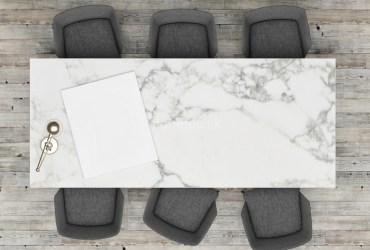Mramorový kancelársky stôl