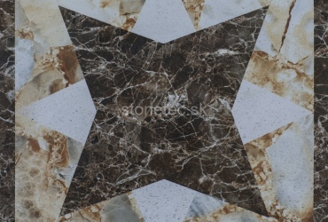 Ornamentá dlažba z mramoru
