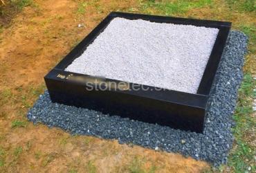 Urnový hrob zo žuly Absolute Black
