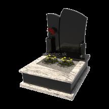 Viacgeneračný urnový hrob Viscont White
