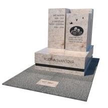 Masívny urnový hrob zo žuly