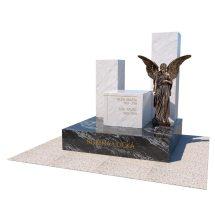Masívny urnový hrob z dvoch prírodných kameňov
