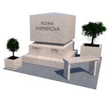 Masívny urnový hrob z prírodnej žuly béžovitej kresby