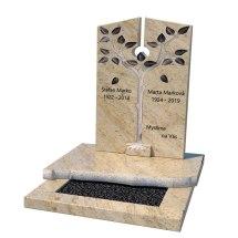 Urnový hrob s pomníkom ručne tvarovaného stromčeka
