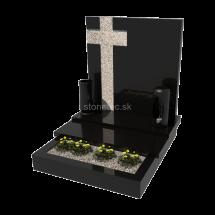 Viacgeneračný urnový hrob Absolute Black