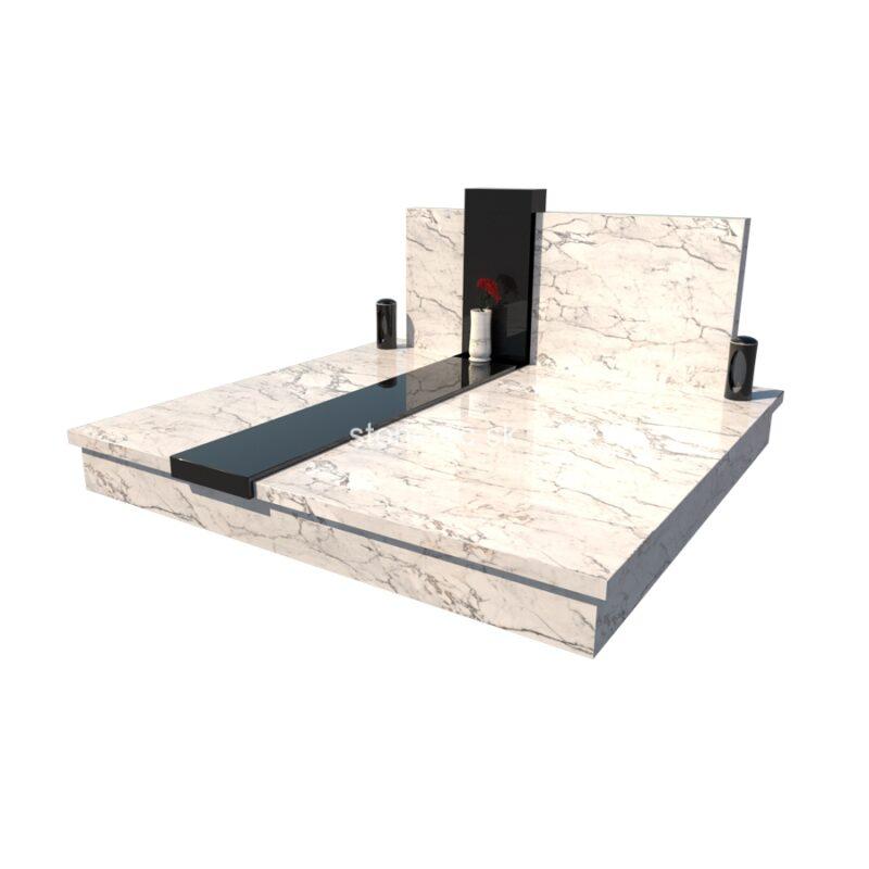 dvojhrob medium D1 - Bianco Carrara