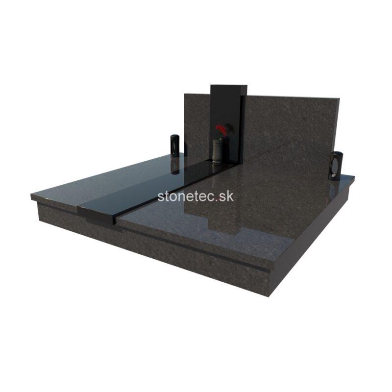Dvojhrob medium D1 - Steel Grey