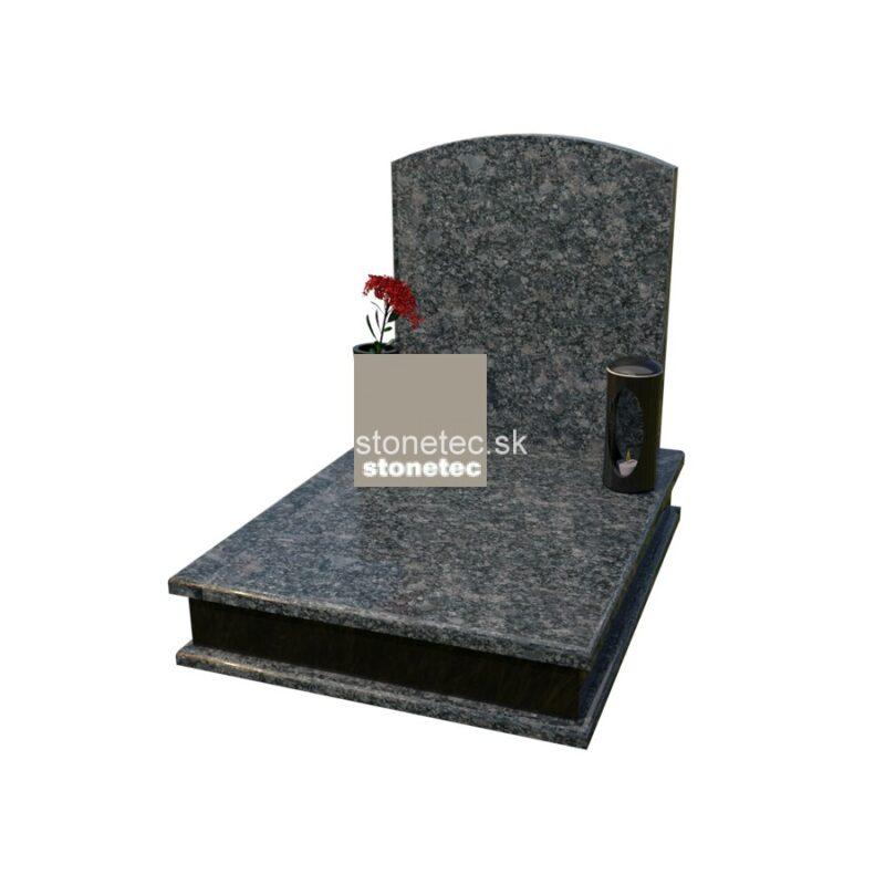 urnovy hrob s pomnikom - steel grey