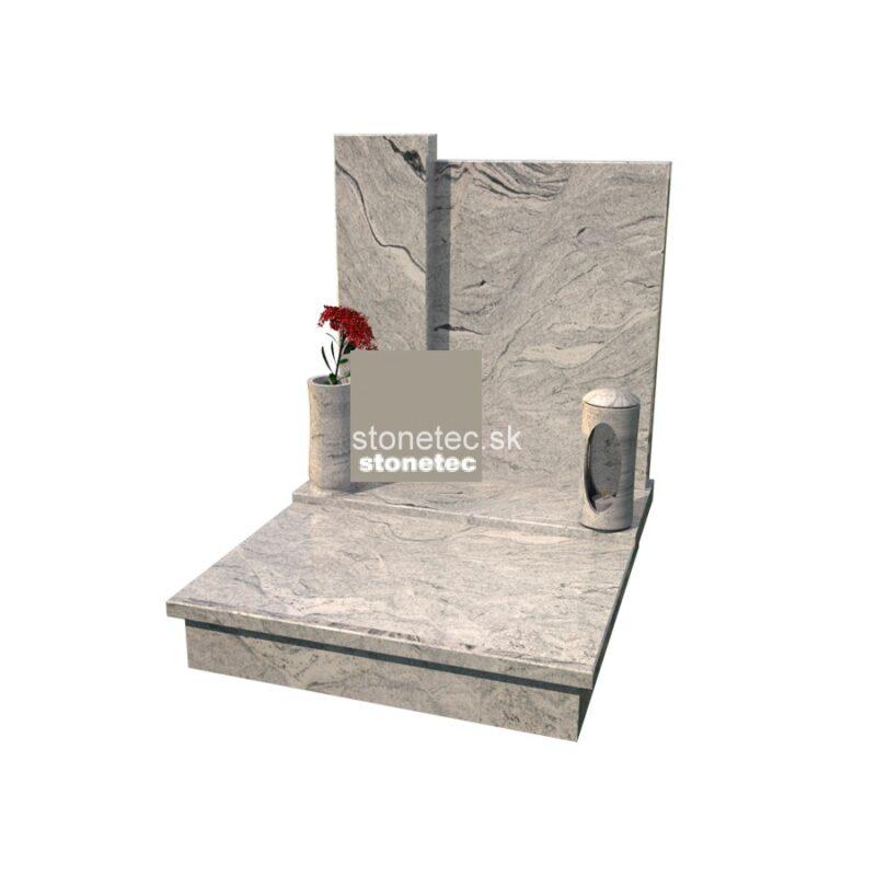 urnovy hrob s pomníkom - Viscon White