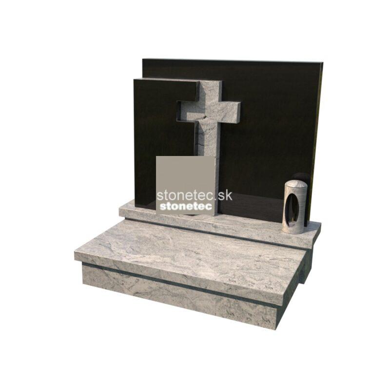 urnovy hrob s pomnikom - Viscon white2